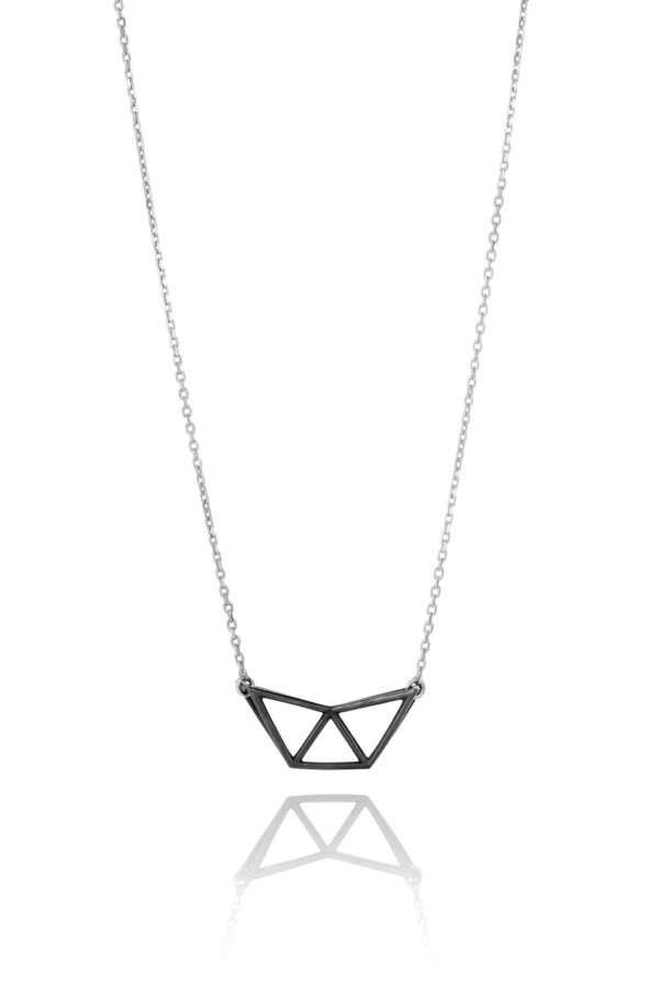 SEB Fly Black Oxidized Silver Necklace Icelandic Fashion Jewellery Design Geometric Simple