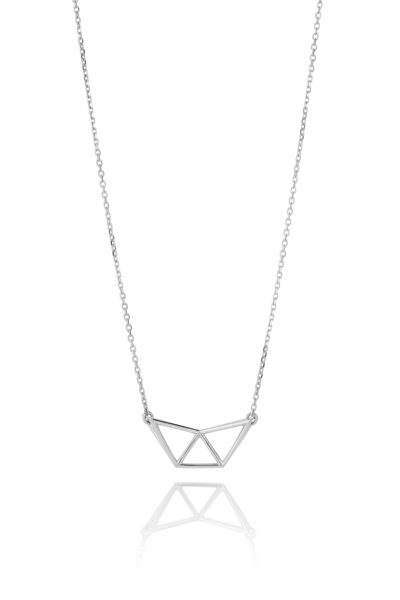 SEB Fly Silver Necklace Icelandic Fashion Jewellery Design Geometric Simple