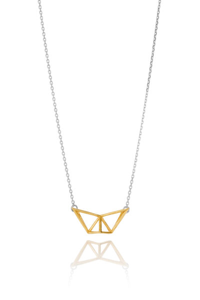 SEB Fly Gold Silver Necklace Icelandic Fashion Jewellery Design Geometric Simple