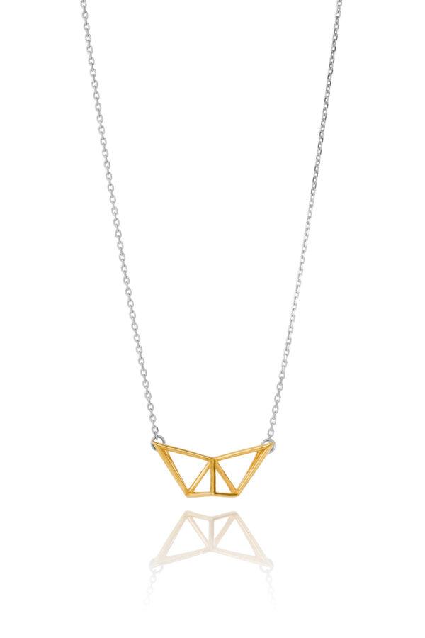 SEB Fly Gold Silver Necklace Icelandic Fashion Jewellery Design Geometric Simple