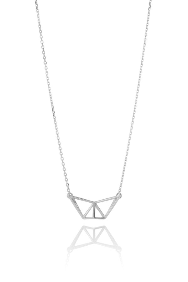 SEB Fly Silver Necklace Icelandic Fashion Jewellery Design Geometric Simple