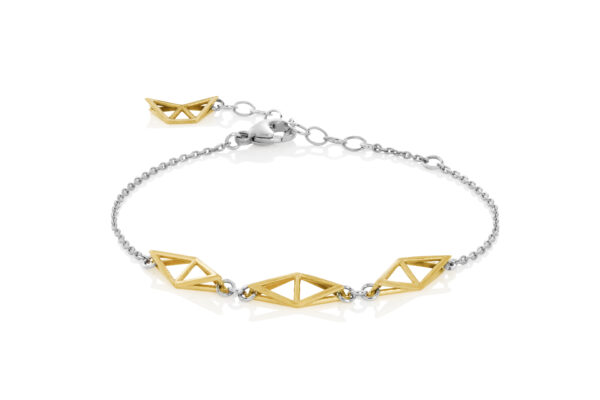 SEB Fly Gold Silver Chain Bracelet Icelandic Fashion Jewellery Design Geometric Simple