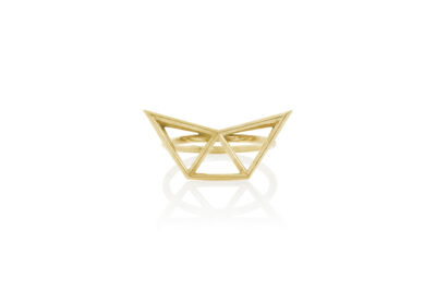 SEB Fly Gold Silver Ring Icelandic Fashion Jewellery Design Geometric Simple