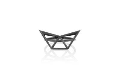 SEB Fly Black Oxidized Silver Ring Icelandic Fashion Jewellery Design Geometric Simple