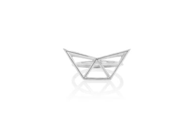 SEB Fly Silver Ring Icelandic Fashion Jewellery Design Geometric Simple