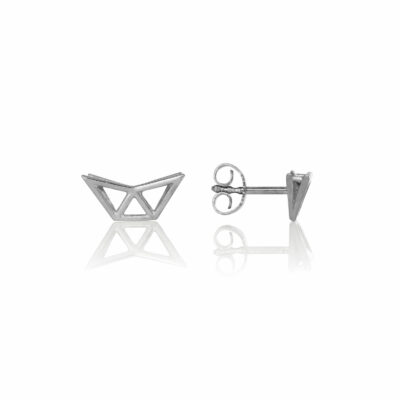 SEB Fly Silver Stud Earrings Icelandic Fashion Jewellery Design Geometric Scandinavian Style Jewelry Stylish