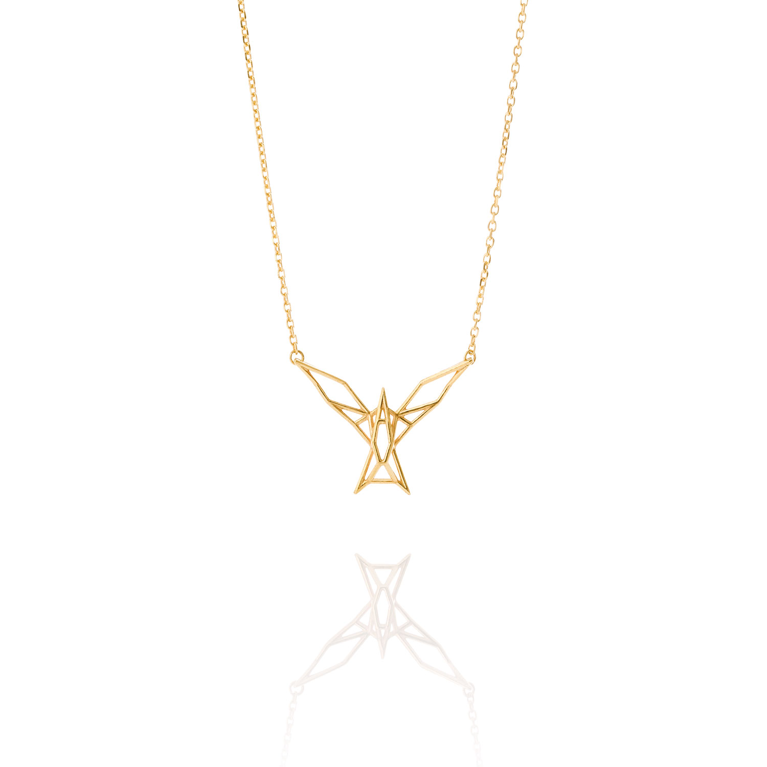 Tern Gold Plated Silver Necklace Seb Icelandic Fashion Jewellery
