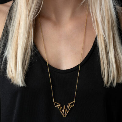 SEB Swan Wings Gold Silver Necklace Icelandic Fashion Jewellery Design Geometric Scandinavian Love
