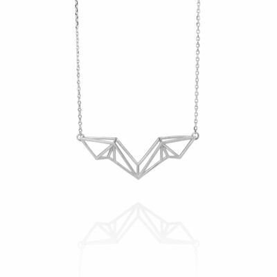 SEB Wings Silver Necklace Icelandic Fashion Jewellery Design Geometric Scandinavian Style Elegant