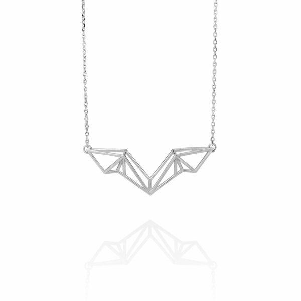 SEB Wings Silver Necklace Icelandic Fashion Jewellery Design Geometric Scandinavian Style Elegant